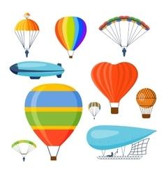Ballon aerostat transport set vector
