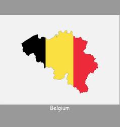 belgium map flag vector image