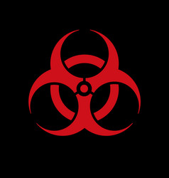 Biohazard danger caution sign pandemic symbol vector
