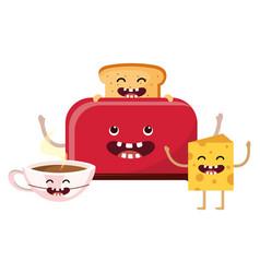 bread toaster cartoon vector image