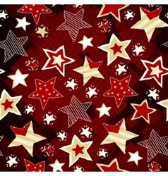 Briht stars on red mosaic background vector