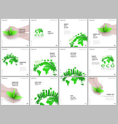 brochure layout square format covers design vector image