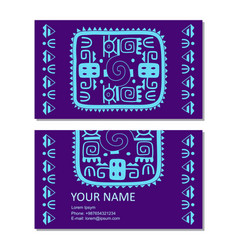 business card template with ancient vector image