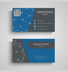 Business card with abstract connection pattern vector image