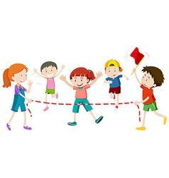 Children running in race vector