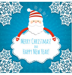 christmas blank with santa claus vector image