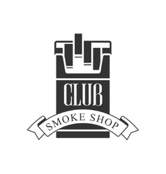 Cigarette smoke shop premium quality smoking club vector