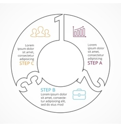 circle numbers linear infographic cycle vector image
