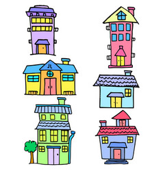 collection stock of house colorful set vector image