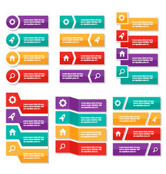 Colorful Label Infographic elements flat design vector image