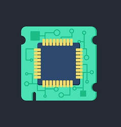 Computer Processor Chip vector image