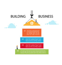 crane and building block infographic template vector image