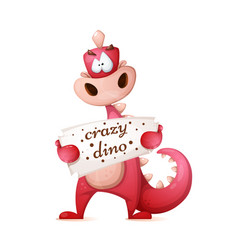 cute dino characters cartoon vector image