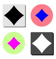 diamond suit flat icon vector image