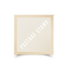 empty postal stamp template with shadow blank vector image