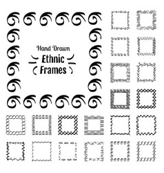 Ethnic patterns or frames vector