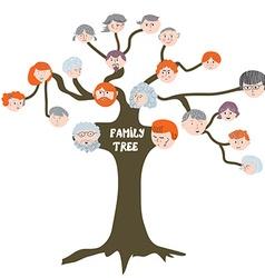 Family tree - funny cartoon vector image
