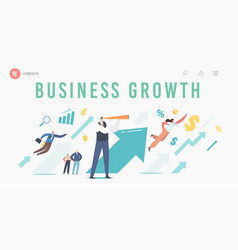 Financial success career growth landing page vector