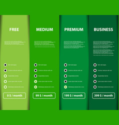 four variant offer product and service on color vector image