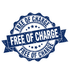 Free of charge stamp sign seal vector