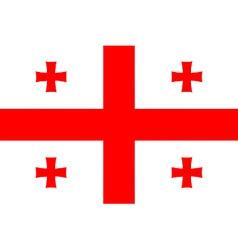 Georgian flag vector