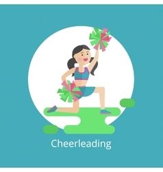 Girl - a cheerleader vector image