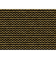 Gold glitter dots zigzag pattern vector