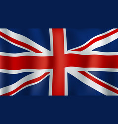 green britain or union jack 3d flag vector image