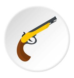 gun icon circle vector image