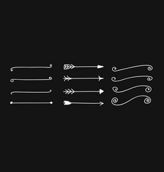 hand drawn set of objects for design use white vector image