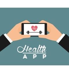 health app vector image