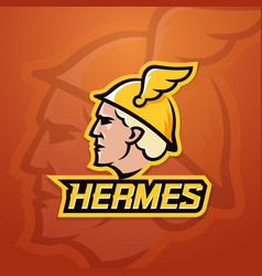 Hermes abstract team logo emblem or sign vector