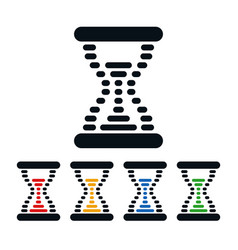 hourglass icons dot shaped time symbols vector image