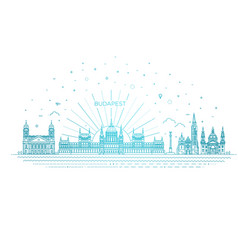 Hungarian travel landmark vector