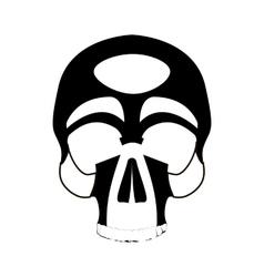 Icon human skull vector