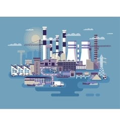 Industrial zone with factories vector image
