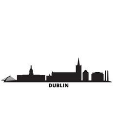 Irland dublin city skyline isolated vector