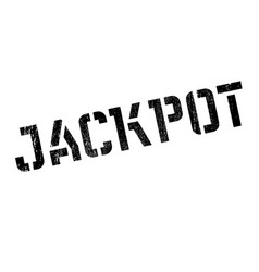 jackpot rubber stamp vector image