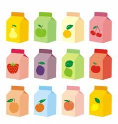juice carton vector image