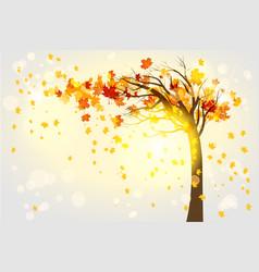 Lonely autumn tree vector