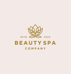 lotus flower logo beauty spa salon cosmetics vector image