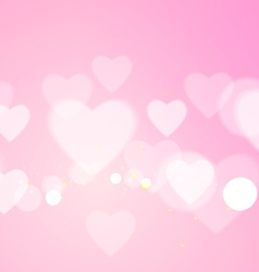 Love Abstract with Hearts on Pink Background vector