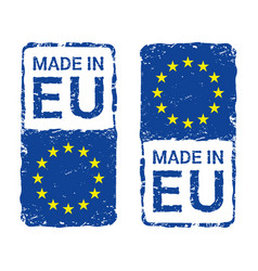 made in european union eu letter stamp vector image