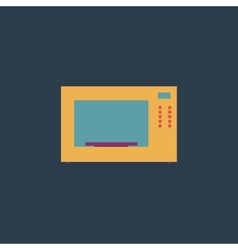 Microwave oven icon sign and button vector