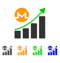 monero growing graph trend icon vector image