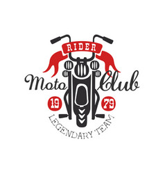 Moto club logo legendary team 1979 design vector