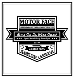 Motorcycle Patch vector image