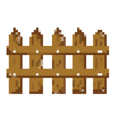 Pixelated wood grillage structure texture style vector