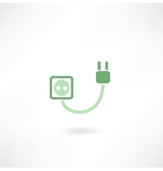 plug and socket icon vector image