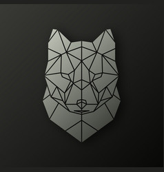 Polygonal head of a wolf vector